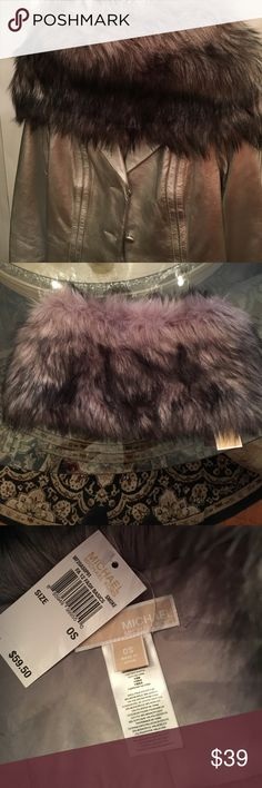 Michael Kors Faux Fur Scarf Gray. New with tags Chic addition to any coat or cape. Smokey gray. New with tags. One continuous piece Michael Kors Accessories Scarves & Wraps