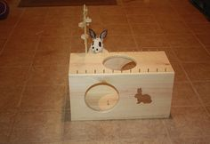 Bunny Rabbit Tunnel Box Activity Toy by BunnyRabbitToys on Etsy, $59.00