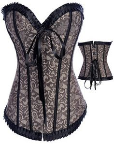 54544dcd44 Gothic fashion  Corsets  Grey Sweetheart Fascinating Corset Bustier Tops  Boned Corsets