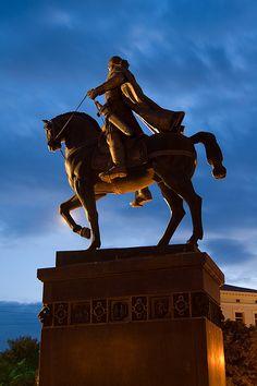 The statue of Danilo Galitskiy, the founder of Lviv city