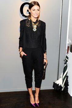 Olivia Palermo wears total black look