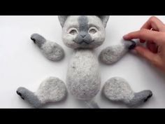 "Video tutorial ""Needle felted kitten Rysya in the style of Teddy (preview) - YouTube #needlefeltingtutorials"