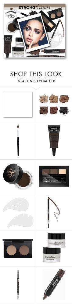 """#394 - Strong Brows"" by lilmissmegan ❤ liked on Polyvore featuring beauty, St. John, shu uemura, MAKE UP FOR EVER, Anastasia Beverly Hills, Maybelline, Givenchy, MAC Cosmetics, BBrowBar and BeautyTrend"