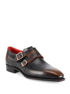 ebca67cf1968 Corthay - Arca Double Monk-Strap Leather Shoes Brown Leather Shoes