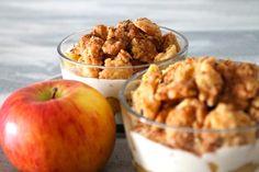 veganer Apfelkuchen im Glas
