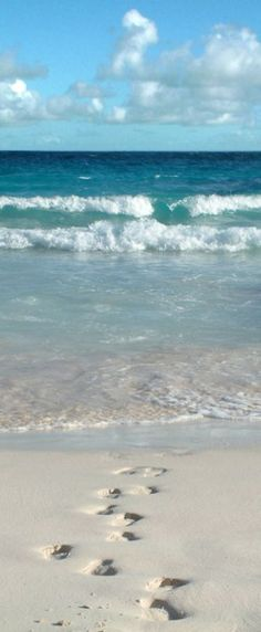 Beach Footprints at Crane Beach   Barbad Waterfalls Love