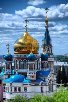 Omsk, Russia. The Assumption Cathedral Успенский собор в Омске, Россия. https://en.m.wikipedia.org/wiki/Assumption_Cathedral,_Omsk