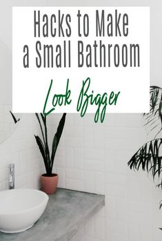 Top tips and simple hacks on how to make your small bathroom look and feel bigger. We all crave more space but here is how to work with the bathroom and home you have to create an illusion of more space by design, decor and accessories #bathroom #bathroomdecor #smallbathroom #bathroomdesign #bathroomhacks Bathroom Hacks, Small Bathroom, Beautiful Space, Beautiful Homes, Small Homes, Home Hacks, Beautiful Bathrooms, Simple House, Bathroom Interior