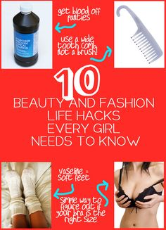 10 Beauty and Fashion Life Hacks Every Girl Needs To Know