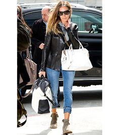 Sarah Jessica Parker Rochas Leti Bag (1955, available online in Pale Pink) and TOD'S Large Leather Tote Bag ($1845)