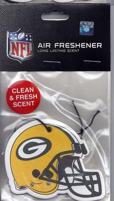 GREEN BAY PACKERS CAR AUTO HOME AIR FRESHENER NFL HELMET LOGO RODGERS FARVE HAWK #GreenBayPackers