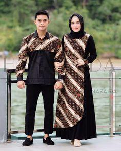'Orlin Couple Set' ❤️ Contact Us Batik Kebaya, Kebaya Dress, Kebaya Kutu Baru Hijab, Model Dress Batik, Batik Dress, Batik Fashion, Hijab Fashion, Fashion Outfits, Batik Muslim