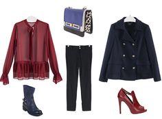Ma Come Mi Vesto?: Look versatile: bordeaux e blu