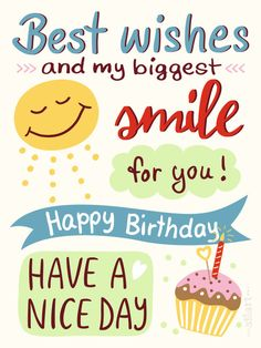 Birth Day QUOTATION – Image : Quotes about Birthday – Description Best Birthday Quotes : Birthday Smile happy birthday Illustration Sharing is Caring – Hey can you Share this Quote ! Short Birthday Wishes, Birthday Blessings, Birthday Wishes Quotes, Happy Birthday Funny, Happy Birthday Messages, Happy Birthday Images, Happy Birthday Greetings, Funny Happy Birthdays, Happy Birthday Best Wishes