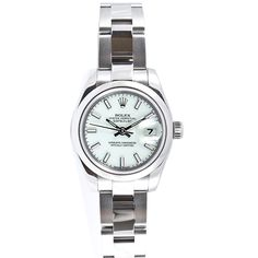 Pre-owned Rolex Women's Datejust Stainless Steel Oyster White Stick Dial Watch | Overstock.com Shopping - The Best Deals on Pre-Owned Rolex Women's Watches