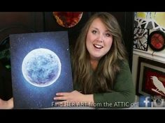 How to PAINT the Moon in a Star Filled Sky