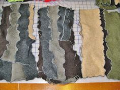 Upcycled cashmere scarves