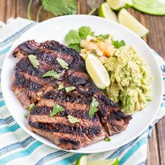 ... Steaks - juicy rib-eyes marinated in tequila, lime, and triple sec