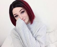 New Sexy Red Short Bob Synthetic Lace Front Wig - All Synthetic Wigs Daily Hairstyles, Cute Girls Hairstyles, Pretty Hairstyles, Wig Hairstyles, Synthetic Lace Front Wigs, Synthetic Wigs, Wig Styles, Curly Hair Styles, 12 Inch Hair