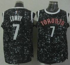 444bda3c125c Toronto Raptors Jersey 7 Kyle Lowry Revolution 30 Swingman New Black Jerseys
