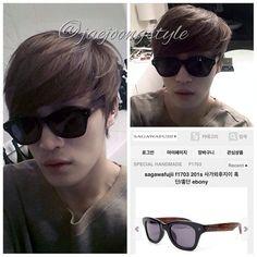 #Jaejoong in @sagawafujii's F1703 201(s) #handmade #wooden #eyewear. (2014.03.26)  Price: ₩218,000. Credit: sagawafujii.co.kr star gallery and PrinceJJ. #handsome #김재중 #KimJaejoong