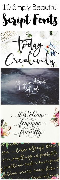 More pretty fonts to feed my font hoarding addiction!