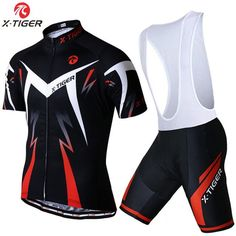 X-Tiger 2017 Cycling jersey Set Summer Bicycle Clothing Maillot Ropa Ciclismo Hombre Short Sleeve MTB Bike Sportswear Suit