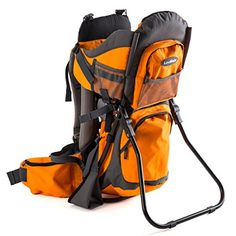 Premium Baby Backpack Carrier for Hiking with Kids  Carry your Child Ergonomically OrangeGrey ** Read more reviews of the product by visiting the link on the image. (This is an affiliate link and I receive a commission for the sales) #BabyCarrier