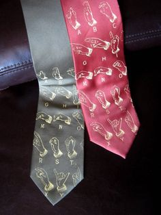 Sign Language neckties... just awesome.