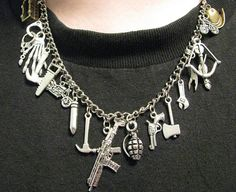 The Walking Dead Inspired Charm Necklace: your Zombie Apocalypse essential accessory! (by ZivaKreations, Terre Haute, IN - USA)