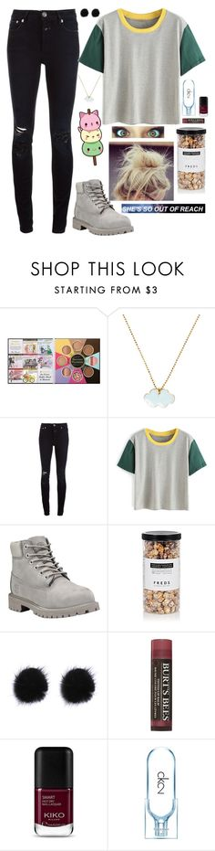 """""""Untitled #649"""" by weightlessdreams ❤ liked on Polyvore featuring Too Faced Cosmetics, Conran, Closed, Timberland, Poste, FREDS at Barneys New York, Burt's Bees and Calvin Klein"""