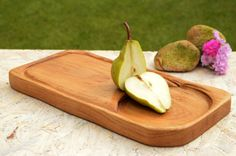 Wooden cutting board with juice groove wooden salver chopping board