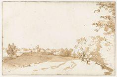 Jan de Bisschop | IJsseldijk tussen Gouda en Moordrecht, Jan de Bisschop, 1648 - 1671 |