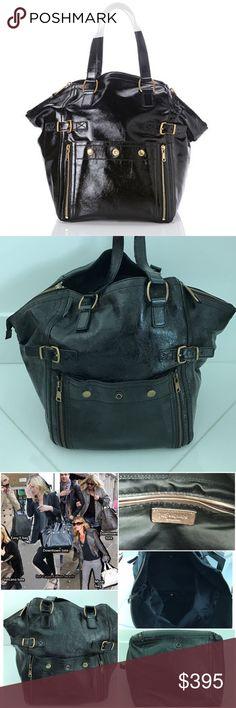 9104ccc89fc24 Yves Saint Laurent black patent downtown tote Yves Saint Laurent black  patent leather