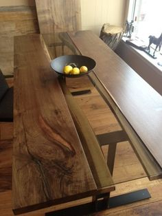 LIVE EDGE BLACK WALNUT HARVEST TABLE contemporary