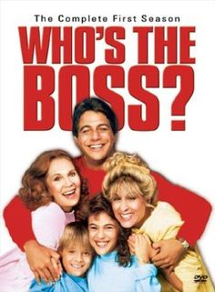 WHO'S THE BOSS? With Tony Danza, Judith Light, Alyssa Milano, Danny Pintauro. Tony Micelli a retired baseball player becomes the housekeeper of Angela Bower, an NY advertising executive. Together they raise their kids Samantha Micelli and Jonathon Bower, with help from Mona Robinson, Angela's man-crazy mother.