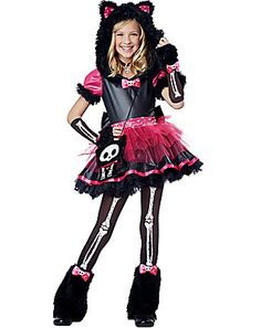 skelanimals kit the kat deluxe child costume from spirit halloween on catalog spree my personal digital mall