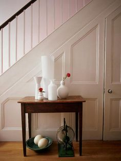 Door under stairs - Kayla LeBaron Interiors: Staircase Storage Ideas Closet Door Storage, Staircase Storage, Stair Storage, Hidden Storage, Closet Doors, Storage Shelves, Closet Under Stairs, Space Under Stairs, Under Stairs Cupboard