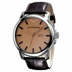 Emporio Armani Brown Leather Men's Watch AR0429