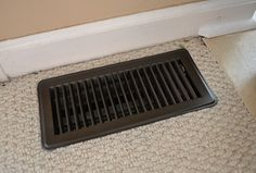 vent painted with Krylon Oil Rubbed Bronze spray paint