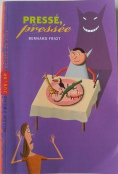 """Roman dès 9 ans.  """"Pressée pressée"""" de Bernard FRIOT. Un roman à l'humour un peu décapant sur la vie familiale d'une ado et ses petits (et grands) déboires!"""