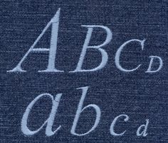 """Vajaya Satin Font comes in 0.5"""", 1"""", 1.5"""" and 2"""" heights based on the capital """"A"""". All sizes finished in Satin Stitching. Includes uppercase letters, lowercase letters, numbers and four punctuation marks."""