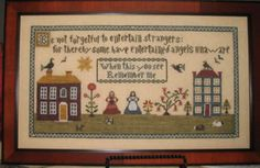 Angels Unaware is the title of this cross stitch pattern from Abby Rose Designs.