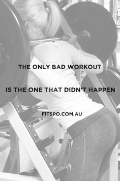Truth! You get up and workout even for ten minutes and you're still a better YOU than you were ten minutes ago!
