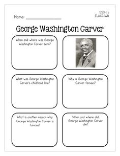 george washington carver famous american mini book printables