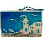 Greek Ceramic Art - Scenery Ceramic Painting, Ceramic Art, Greek Blue, Hand Painted Ceramics, Pottery Art, Blues, Scenery, Handmade, Hand Painted Pottery