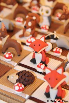 Boîtes à dragées animaux de la forêt
