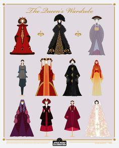 Reina Amidala, Queen Amidala, Rey Star Wars, Star Wars Art, Star Trek, Pixar, Amidala Star Wars, Motif Art Deco, Images Star Wars