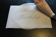 Practicing Spacing with Circular Parchment Paper