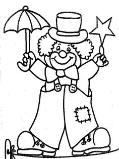 coloring page Carnival on Kids-n-Fun. At Kids-n-Fun you will always find the nicest coloring pages first! Cool Coloring Pages, Animal Coloring Pages, Free Printable Coloring Pages, Adult Coloring Pages, Coloring Pages For Kids, Coloring Sheets, Coloring Books, Clown Crafts, Carnival Crafts